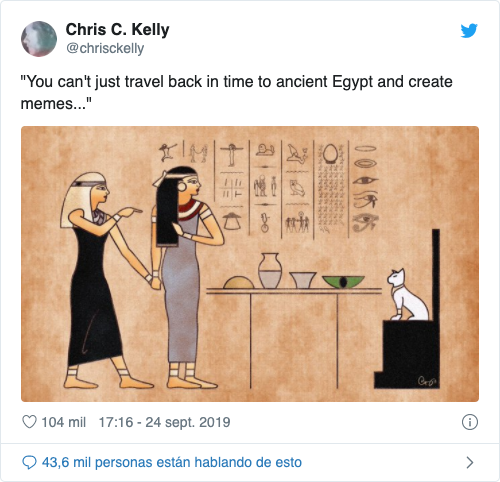 meme del gato en la historia egipcia