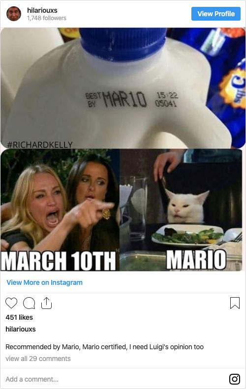 Post Instagram Gato Meme