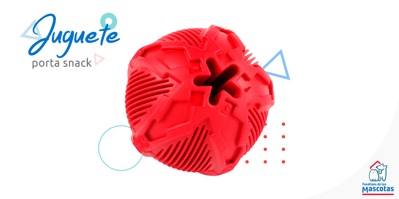 pelota roja porta snack para perro mascotas Sodimac