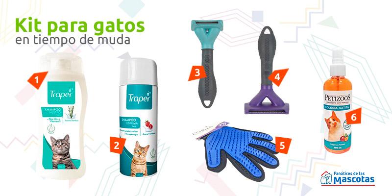 productos para gato en muda de pelo