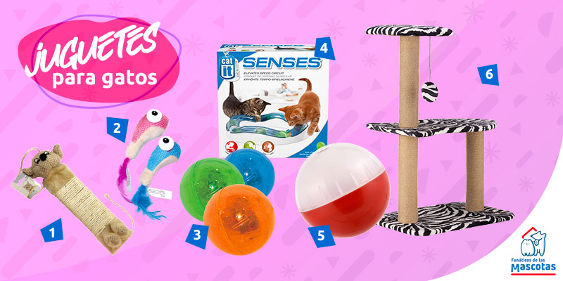juguetes para gatos activos
