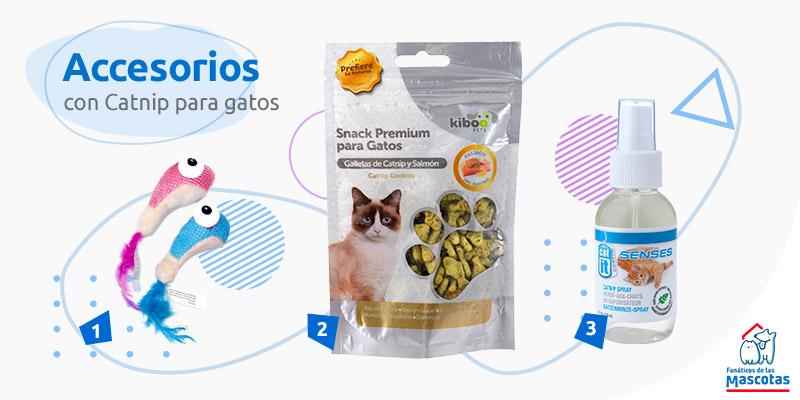 accesorios gatos chile catnip spray y otros