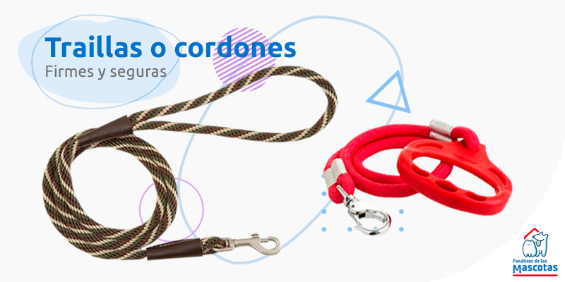 correas para perros-traillas y cordon