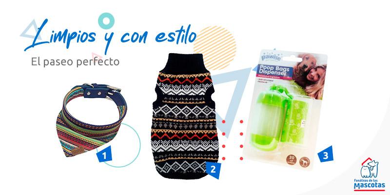 ropa y bolsas higiénicas para paseos de perro